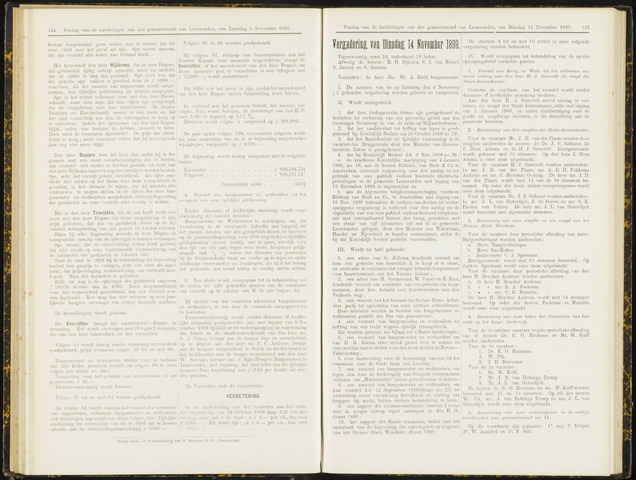 Raadsverslagen van de gemeente Leeuwarden, 1865-2007 (Notulen) 1899-11-14
