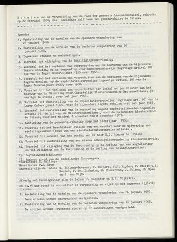 Notulen van de gemeenteraad van Leeuwarderadeel 1968-02-22