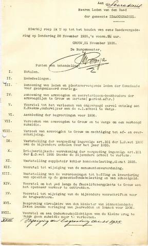 raadsverslagen Idaarderadeel 1935-1983 1935-11-28