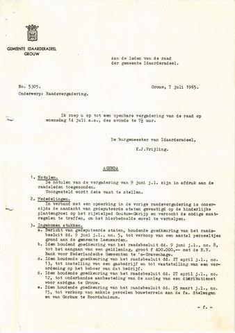 raadsverslagen Idaarderadeel 1935-1983 1965-07-14