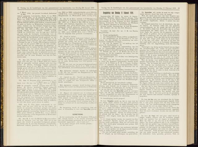 Raadsverslagen van de gemeente Leeuwarden, 1865-2007 (Notulen) 1919-02-11