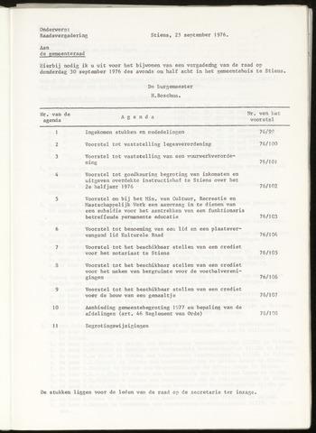 Notulen van de gemeenteraad van Leeuwarderadeel 1976-09-30