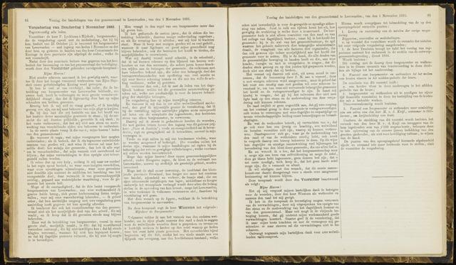 Raadsverslagen van de gemeente Leeuwarden, 1865-2007 (Notulen) 1883-11-01