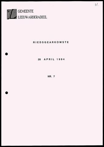 Notulen van de gemeenteraad van Leeuwarderadeel 1994-04-28