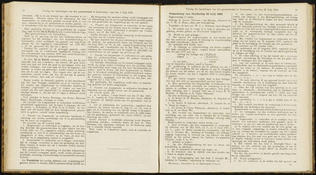 Raadsverslagen van de gemeente Leeuwarden, 1865-2007 (Notulen) 1880-07-22