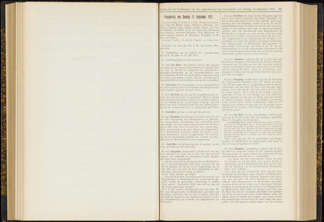 Raadsverslagen van de gemeente Leeuwarden, 1865-2007 (Notulen) 1921-09-13