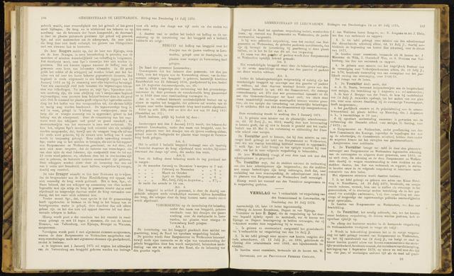 Raadsverslagen van de gemeente Leeuwarden, 1865-2007 (Notulen) 1870-07-28