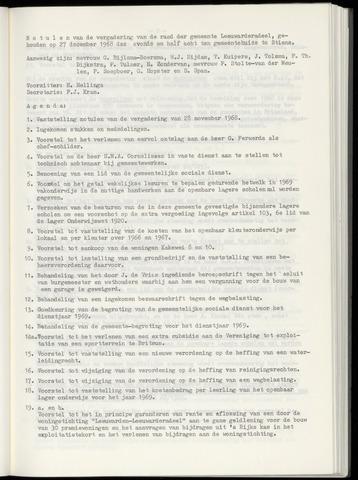Notulen van de gemeenteraad van Leeuwarderadeel 1968-12-27