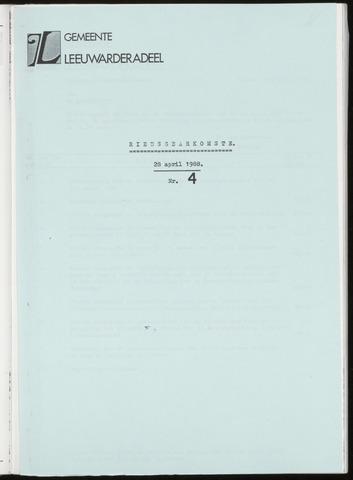Notulen van de gemeenteraad van Leeuwarderadeel 1988-04-28