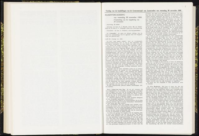 Raadsverslagen van de gemeente Leeuwarden, 1865-2007 (Notulen) 1966-11-30