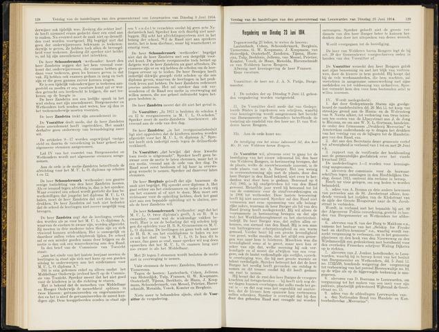 Raadsverslagen van de gemeente Leeuwarden, 1865-2007 (Notulen) 1914-06-23