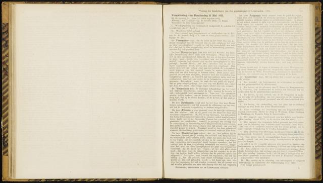 Raadsverslagen van de gemeente Leeuwarden, 1865-2007 (Notulen) 1871-05-11