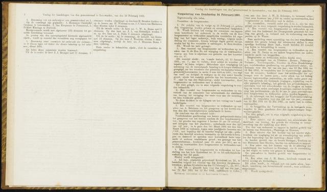 Raadsverslagen van de gemeente Leeuwarden, 1865-2007 (Notulen) 1881-02-24