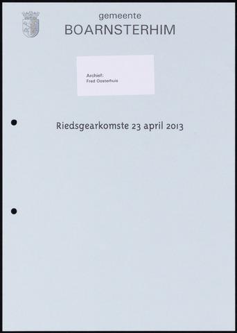 Boarnsterhim vergaderstukken gemeenteraad  2013-04-23