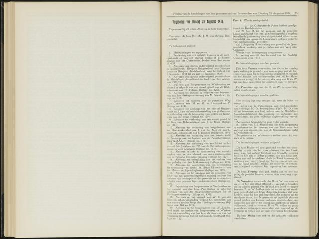 Raadsverslagen van de gemeente Leeuwarden, 1865-2007 (Notulen) 1934-08-28