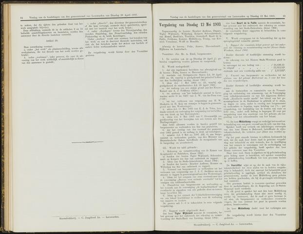Raadsverslagen van de gemeente Leeuwarden, 1865-2007 (Notulen) 1903-05-12