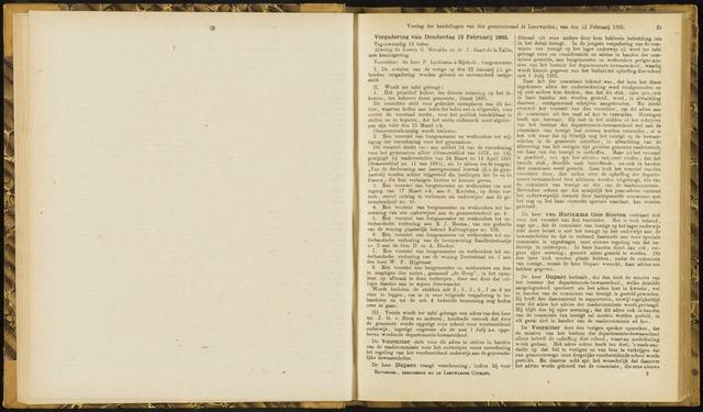 Raadsverslagen van de gemeente Leeuwarden, 1865-2007 (Notulen) 1885-02-12