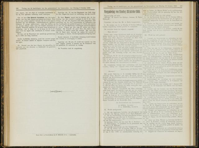 Raadsverslagen van de gemeente Leeuwarden, 1865-2007 (Notulen) 1900-10-23