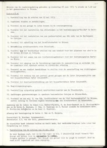 Notulen van de gemeenteraad van Leeuwarderadeel 1973-06-28