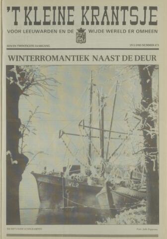 't Kleine Krantsje, 1964-1997 1985-01-19