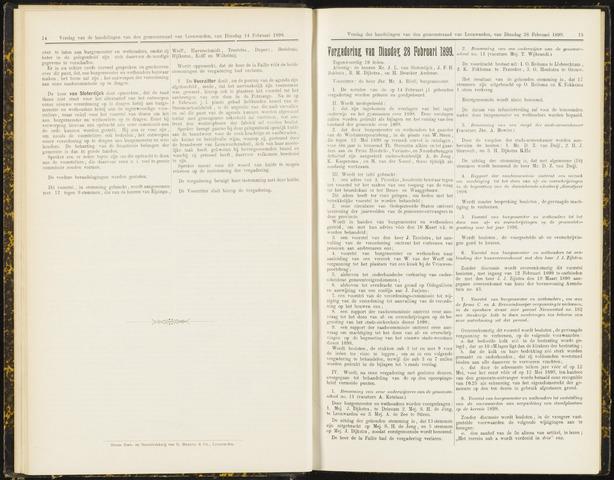 Raadsverslagen van de gemeente Leeuwarden, 1865-2007 (Notulen) 1899-02-25