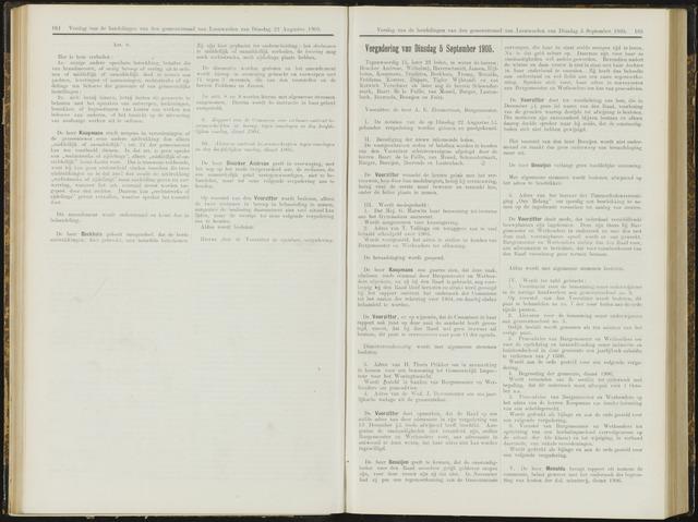 Raadsverslagen van de gemeente Leeuwarden, 1865-2007 (Notulen) 1905-09-05