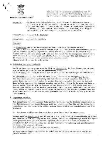 Boarnsterhim vergaderstukken gemeenteraad  1984-02-21