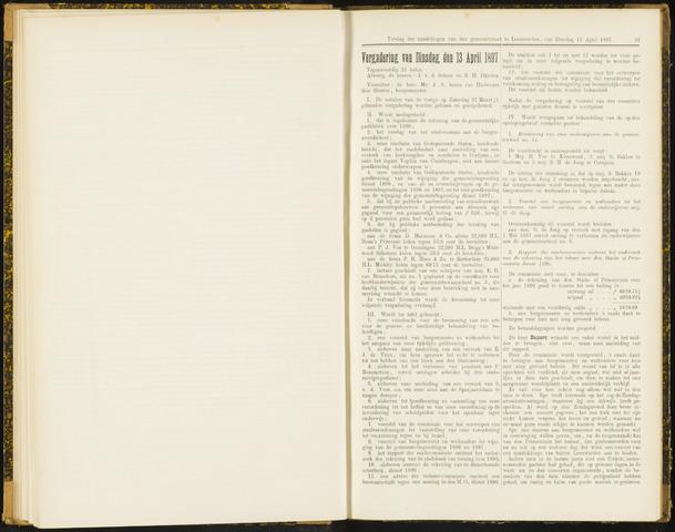 Raadsverslagen van de gemeente Leeuwarden, 1865-2007 (Notulen) 1897-04-13