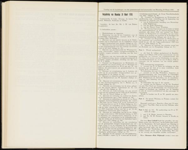 Raadsverslagen van de gemeente Leeuwarden, 1865-2007 (Notulen) 1938-03-28