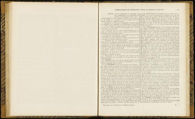 Raadsverslagen van de gemeente Leeuwarden, 1865-2007 (Notulen) 1866-07-12