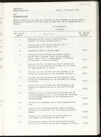 Notulen van de gemeenteraad van Leeuwarderadeel 1977-02-24