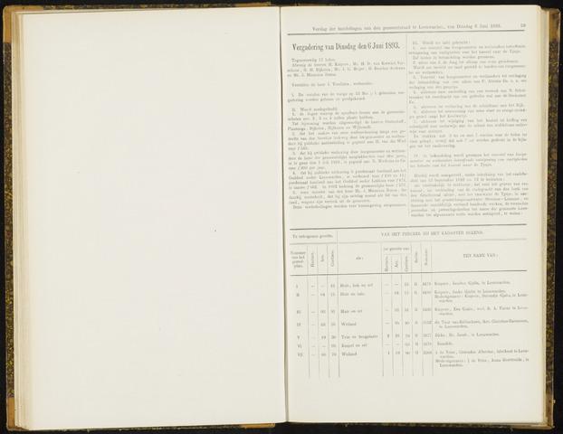 Raadsverslagen van de gemeente Leeuwarden, 1865-2007 (Notulen) 1893-06-06