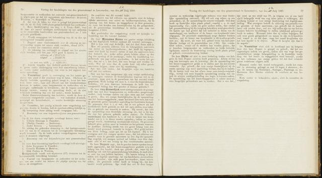 Raadsverslagen van de gemeente Leeuwarden, 1865-2007 (Notulen) 1880-07-10