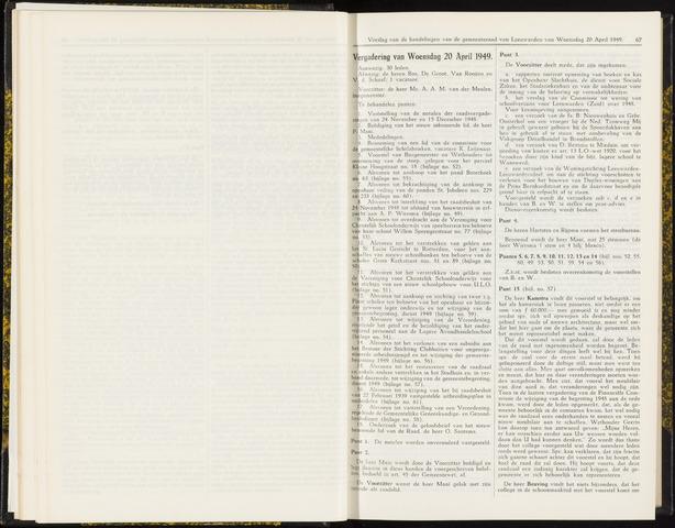 Raadsverslagen van de gemeente Leeuwarden, 1865-2007 (Notulen) 1949-04-20