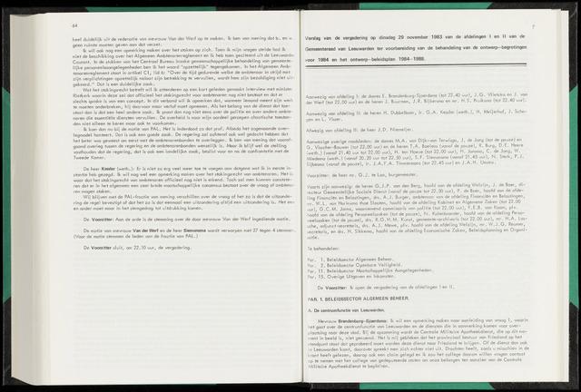 Raadsverslagen van de gemeente Leeuwarden, 1865-2007 (Notulen) 1983-11-29