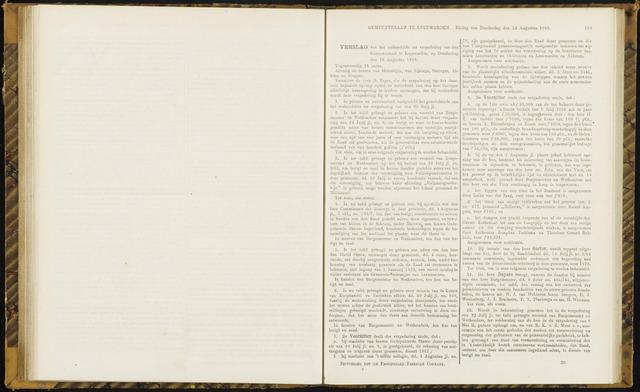 Raadsverslagen van de gemeente Leeuwarden, 1865-2007 (Notulen) 1869-08-12