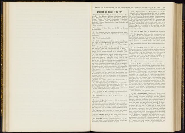 Raadsverslagen van de gemeente Leeuwarden, 1865-2007 (Notulen) 1919-05-13