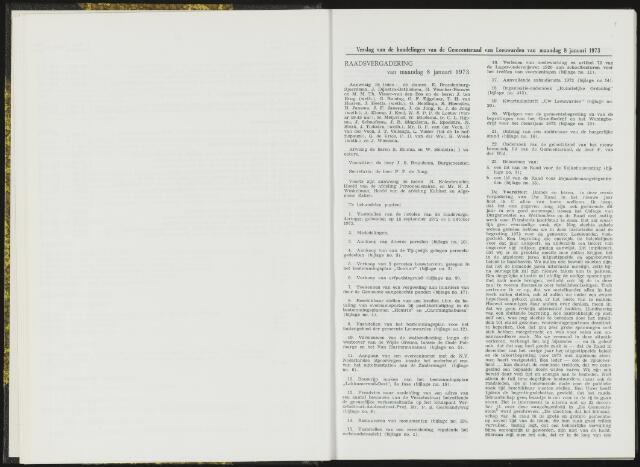 Raadsverslagen van de gemeente Leeuwarden, 1865-2007 (Notulen) 1973