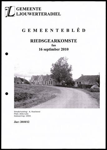 Notulen van de gemeenteraad van Leeuwarderadeel 2010-09-16