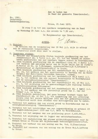 raadsverslagen Idaarderadeel 1935-1983 1955-06-29
