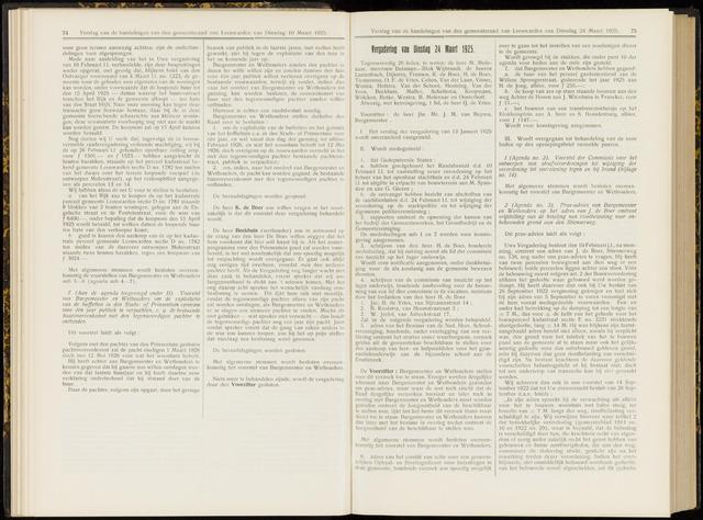 Raadsverslagen van de gemeente Leeuwarden, 1865-2007 (Notulen) 1925-03-24