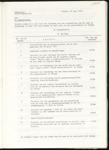 Notulen van de gemeenteraad van Leeuwarderadeel 1977-06-23