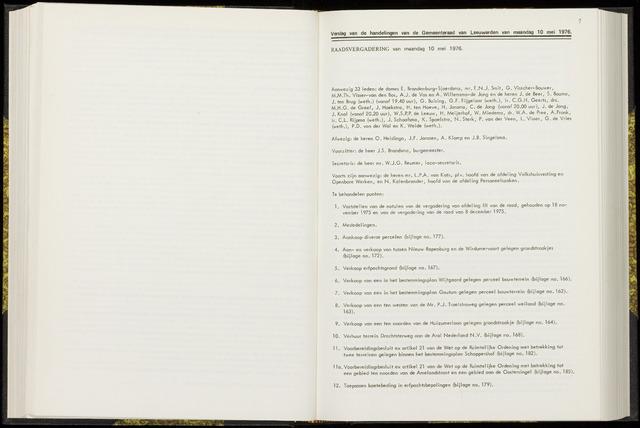 Raadsverslagen van de gemeente Leeuwarden, 1865-2007 (Notulen) 1976-05-10