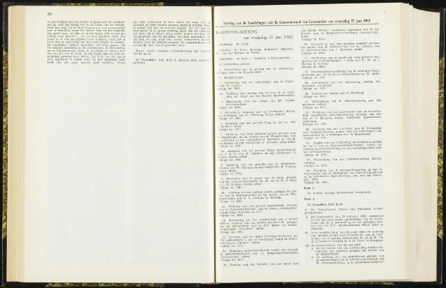 Raadsverslagen van de gemeente Leeuwarden, 1865-2007 (Notulen) 1962-06-27