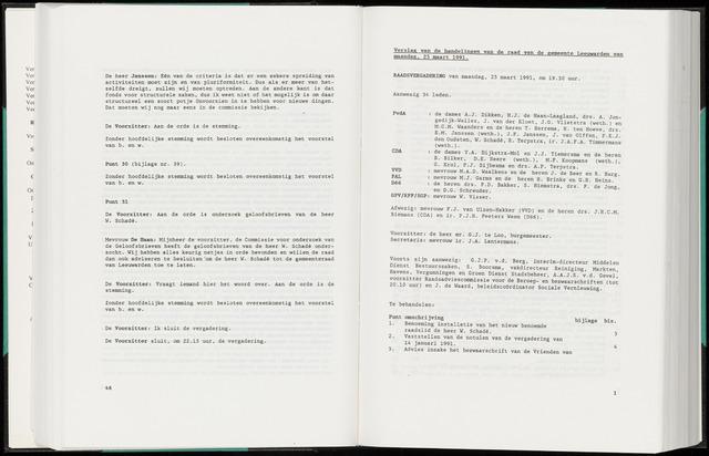 Raadsverslagen van de gemeente Leeuwarden, 1865-2007 (Notulen) 1991-03-25