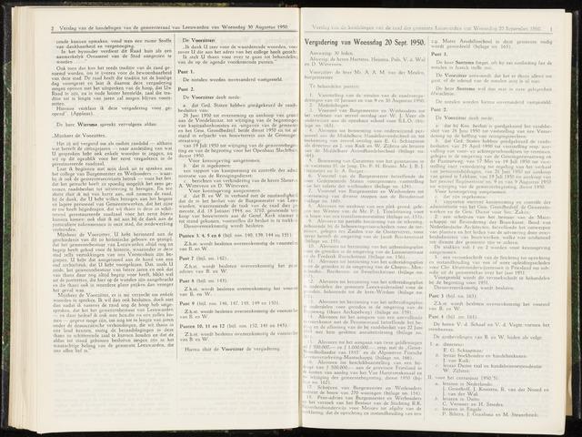 Raadsverslagen van de gemeente Leeuwarden, 1865-2007 (Notulen) 1950-09-20