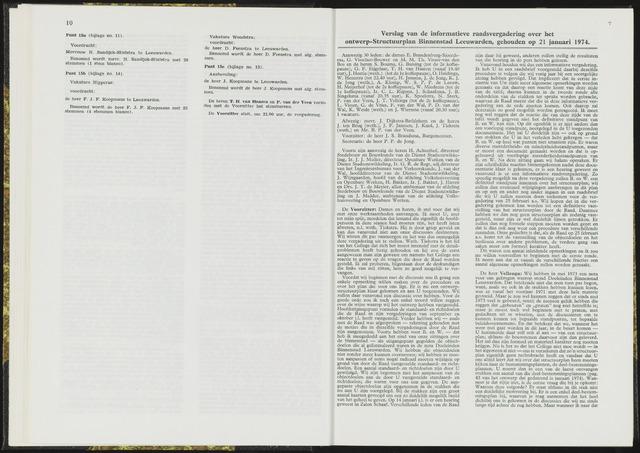 Raadsverslagen van de gemeente Leeuwarden, 1865-2007 (Notulen) 1974-01-21