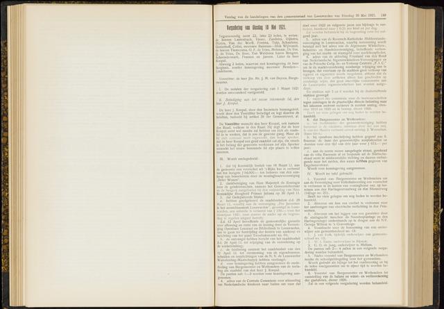Raadsverslagen van de gemeente Leeuwarden, 1865-2007 (Notulen) 1921-05-10