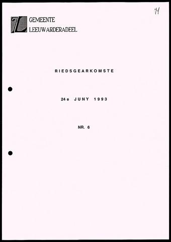 Notulen van de gemeenteraad van Leeuwarderadeel 1993-06-24