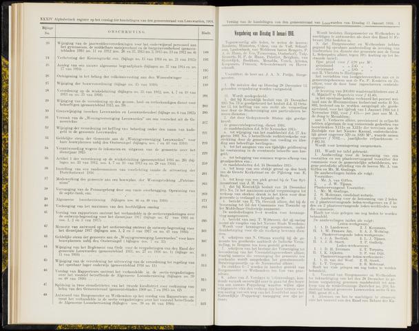 Raadsverslagen van de gemeente Leeuwarden, 1865-2007 (Notulen) 1916-01-11